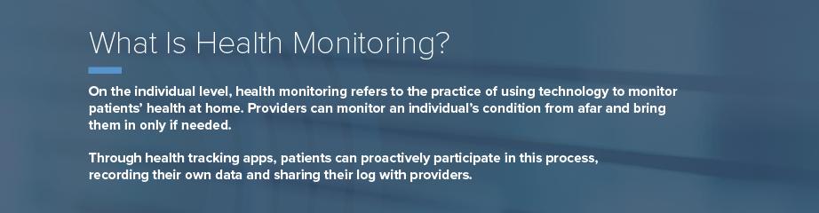 What is health monitoring